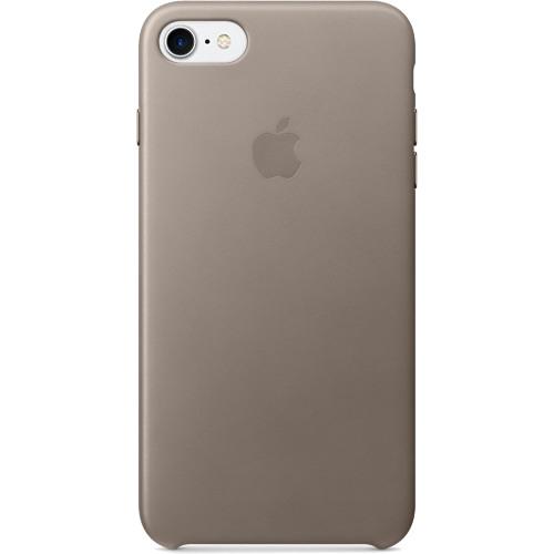 Кожаный чехол Apple Case для iPhone 7 (Айфон 7) платиново-серый