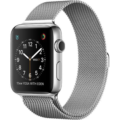 Часы Apple Watch Series 2 42 мм, нержавеющая сталь, миланский сетчатый браслетУмные часы<br>Часы Apple Watch Series 2 42 мм, нержавеющая сталь, миланский сетчатый браслет<br><br>Цвет товара: Серебристый<br>Материал: Нержавеющая сталь 316L<br>Модификация: 42 мм