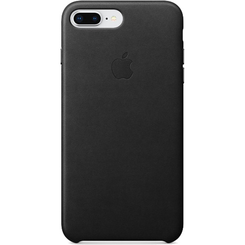 Купить со скидкой Кожаный чехол Apple Leather Case для iPhone 7 Plus / 8 Plus чёрный (Black)