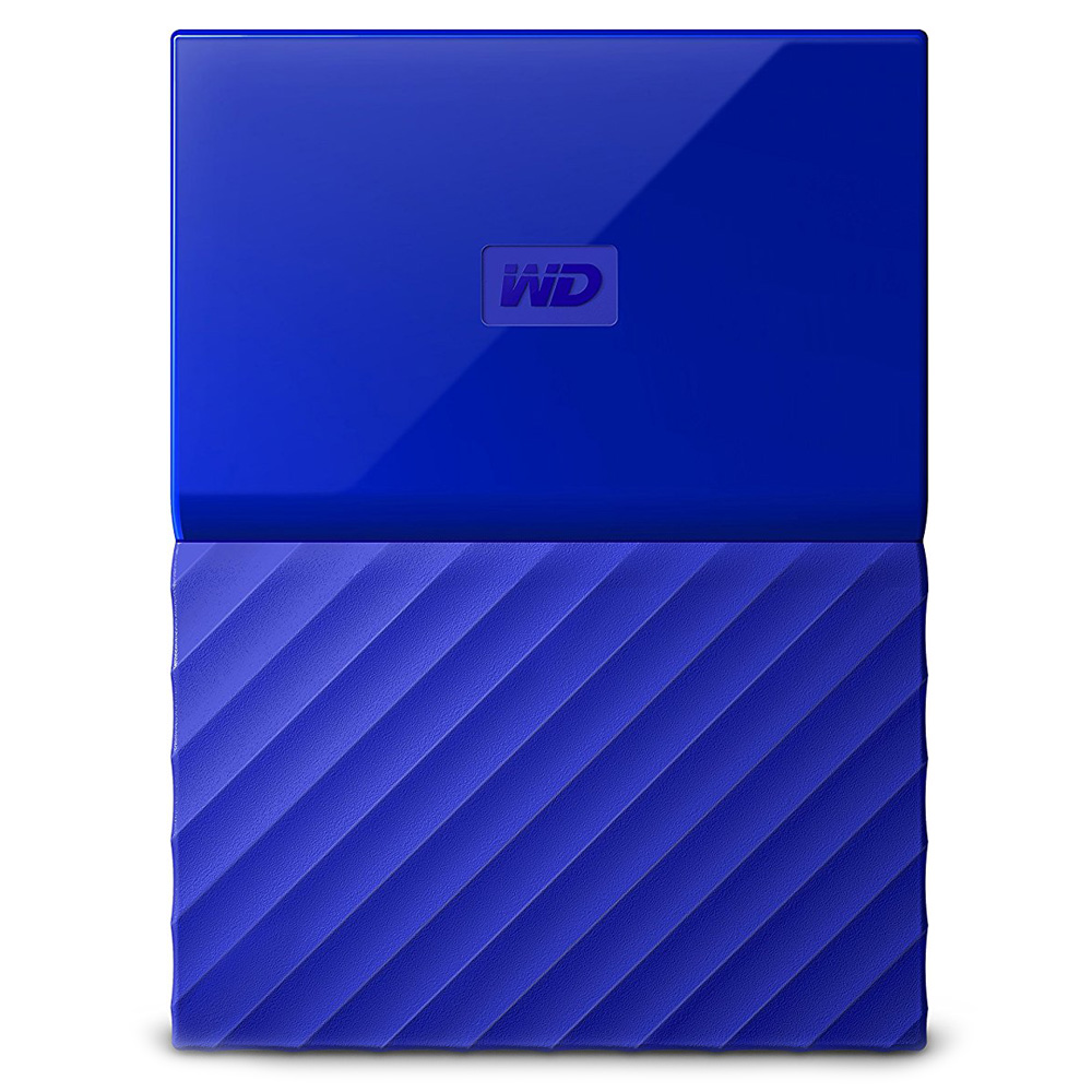 Внешний жесткий диск Western Digital My Passport New 2017 1Тб синийВнешние накопители<br>Western Digital My Passport помещается в ладони и вы сможете взять все ваши файлы, куда бы вы ни отправились.<br><br>Цвет товара: Синий<br>Материал: Пластик, металл<br>Модификация: 1 Тб