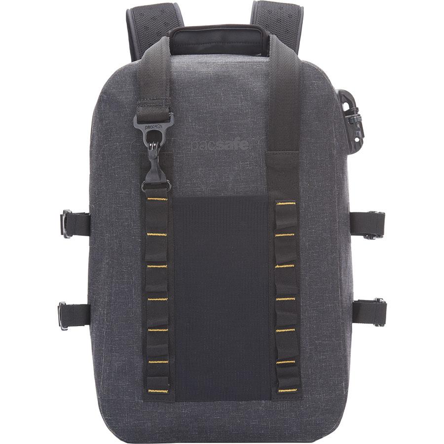 Водонепроницаемый рюкзак Pacsafe Dry 25L чёрный (Charcoal)Рюкзаки<br>Pacsafe Dry 25L — водонепроницаемый рюкзак, обеспечивающий максимум защиты для ваших ценностей!<br><br>Цвет: Чёрный<br>Материал: Нейлон Nylonx (1000D), полиэстер (900D), полиуретан (0.15mm), нержавеющая сталь