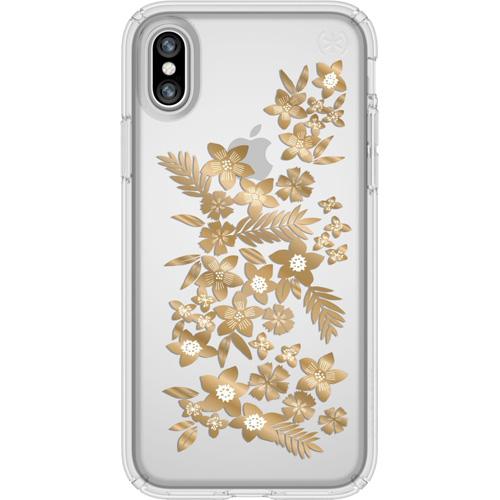 Чехол Speck Presidio Clear + Print для iPhone X (Shimmer Floral Metallic Gold) прозрачныйЧехлы для iPhone X<br>Чехлы-накладки Speck разработаны специально для тех, кто предпочитает яркие и, при этом, надёжные чехлы для своего смартфона<br><br>Цвет товара: Прозрачный<br>Материал: Поликарбонат