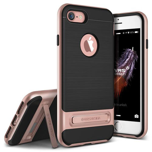Чехол Verus High Pro Shield для iPhone 7 (Айфон 7) розовое золото (VRIP7-HPSRG)Чехлы для iPhone 7<br>Чехол Verus для iPhone 7  High Pro Shield, розовое золото (904605)<br><br>Цвет товара: Розовое золото<br>Материал: Поликарбонат, полиуретан