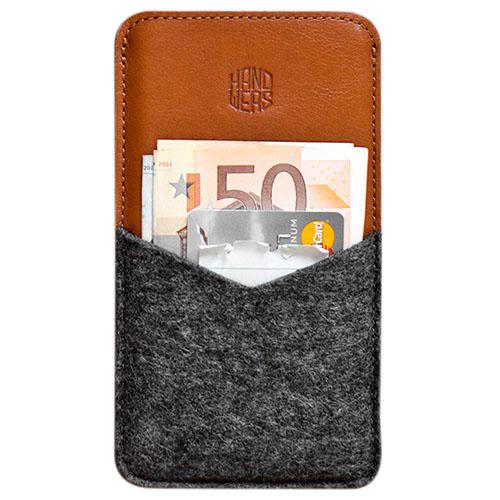 Чехол Handwers Parry для iPhone 5/5S/SE тёмный с коричневымЧехлы для iPhone 5s/SE<br>Чехол Handwers Parry для iPhone 5S/SE Темно-коричневый<br><br>Цвет товара: Коричневый<br>Материал: Натуральная кожа, войлок