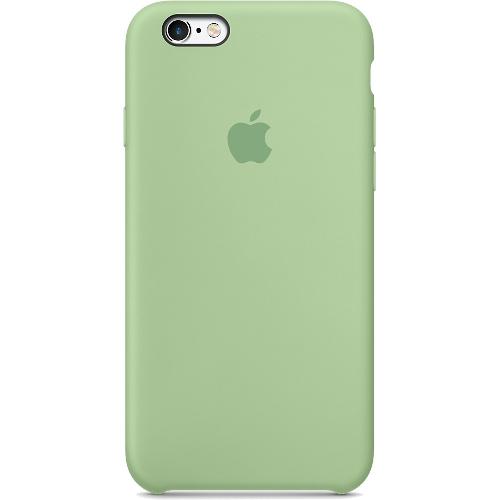 Силиконовый чехол Apple Case для iPhone 6/6s Plus (Айфон 6/6s Plus) мятныйЧехлы для iPhone 6s PLUS<br>Силиконовый чехол Apple Case для iPhone 6/6s Plus мятный<br><br>Цвет товара: Зелёный<br>Материал: Силикон