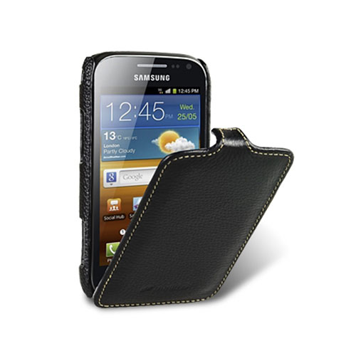 Чехол Melkco Premium Leather Case Jacka Type для Samsung Galaxy Ace 2 чёрный