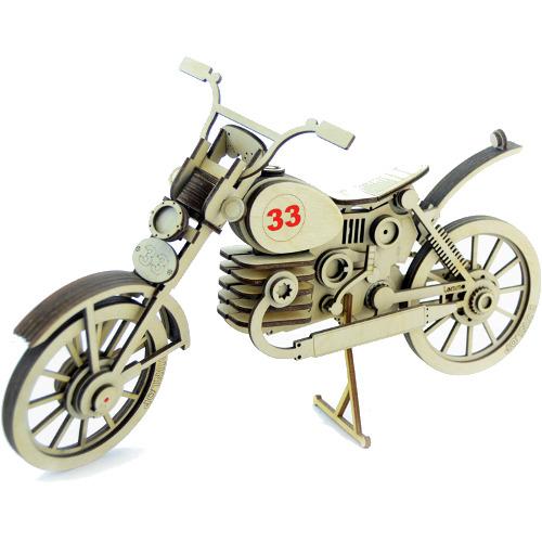 Конструктор 3D Lemmo деревянный Мотоцикл «33»3D пазлы, конструкторы, головоломки<br>Модели Lemmo — это безопасные и экологически чистые конструкторы.<br><br>Цвет товара: Бежевый<br>Материал: Натуральное дерево