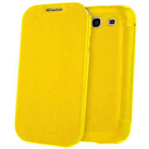 Чехол Mercury Fancy Diary FlipStyle для Samsung Galaxy S3 ЖелтыйЧехлы для Samsung Galaxy<br>С Mercury Fancy Diary FlipStyle вашему смартфону не страшны неприятности!<br><br>Цвет: Жёлтый<br>Материал: Пластик, кожа