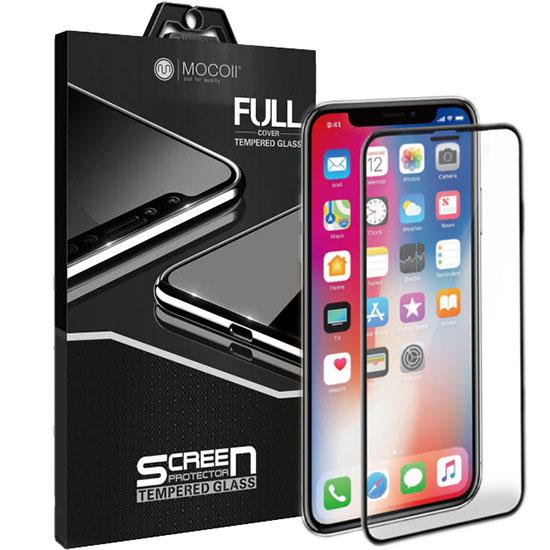 Защитное стекло MOCOLL Tempered Glass Full Cover 2.5D Simple для iPhone X чёрная рамкаСтекла/Пленки на смартфоны<br>MOCOLL Tempered Glass отлично подходит для повседневного использования, и даёт возможность избежать ремонта и замены дисплея iPhone X.<br><br>Цвет: Чёрный<br>Материал: Стекло; олеофобное покрытие, антибликовое покрытие, покрытие против отпечатков пальцев
