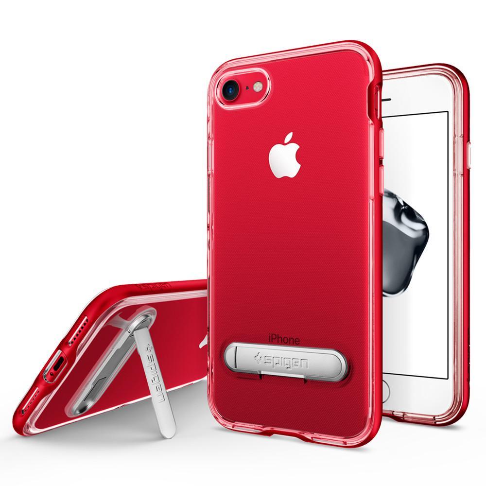 Чехол Spigen Crystal Hybrid для iPhone 7 (Айфон 7) красный (SGP-042CS21520)Чехлы для iPhone 7<br><br><br>Цвет товара: Красный<br>Материал: Поликарбонат, полиуретан
