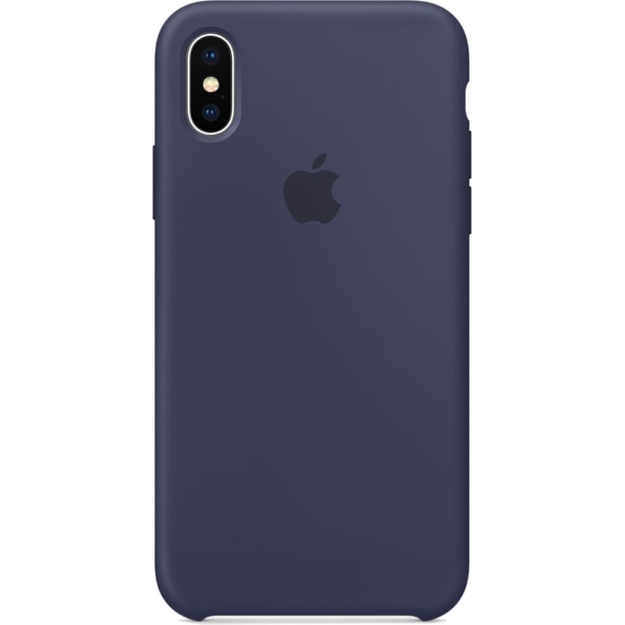 Силиконовый чехол Apple Silicone Case для iPhone X тёмно-синий (Midnight Blue)Чехлы для iPhone X<br>Силиконовый чехол от Apple — отличное дополнение к вашему iPhone X.<br><br>Цвет товара: Синий<br>Материал: Силикон