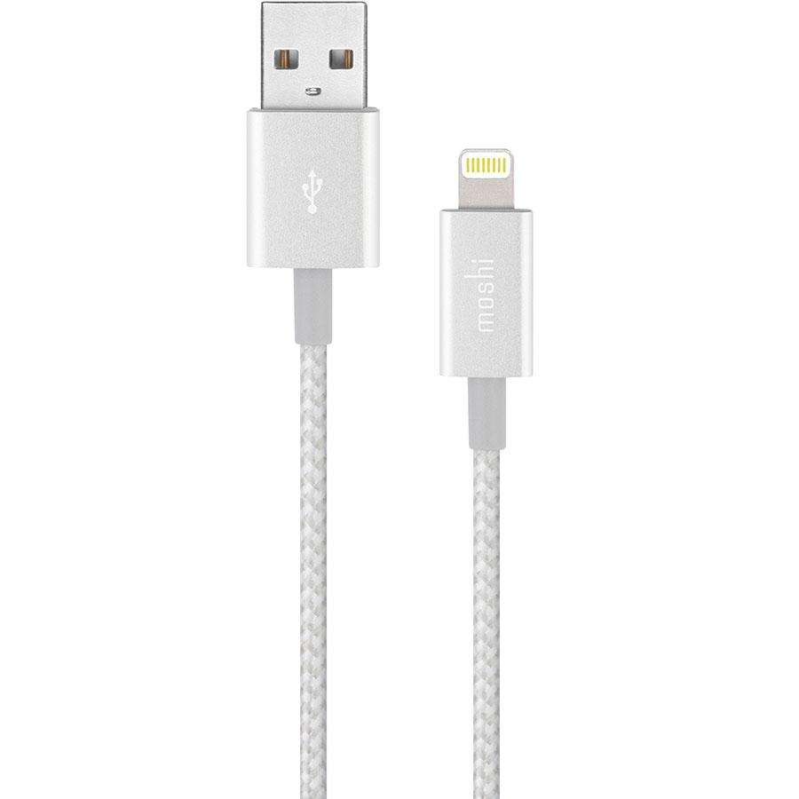 Кабель Moshi Integra Lightning to USB-A (1,2 метра) серебристыйКабели Lightning<br>Moshi Integra — невероятно прочный кабель!<br><br>Цвет товара: Серебристый<br>Материал: Нейлон, металл, кевлар
