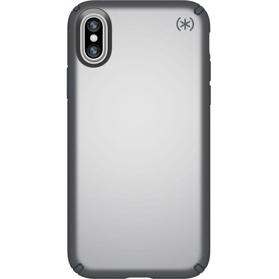 Чехол Speck Presidio Metallic для iPhone X серыйЧехлы для iPhone X<br>Привлекательный чехол Speck Presidio Metallic является превосходной защитой для вашего iPhone X.<br><br>Цвет товара: Серый<br>Материал: Поликарбонат
