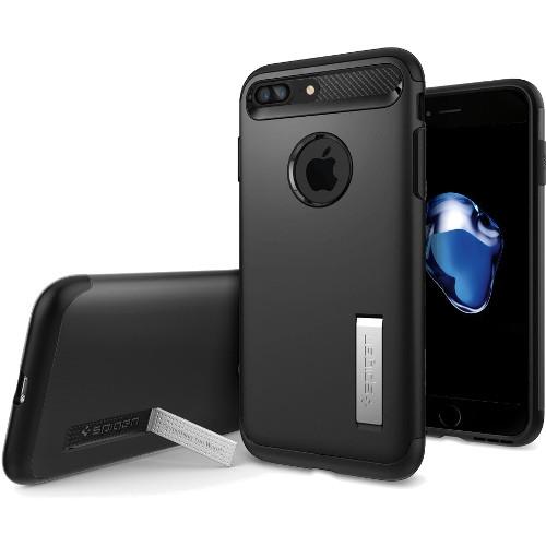 Чехол Spigen Slim Armor для iPhone 7 Plus чёрный (SGP-043CS20648)Чехлы для iPhone 7 Plus<br>Spigen Slim Armor — это тончайшая двухслойная защита для вашего Айфон.<br><br>Цвет товара: Чёрный<br>Материал: Поликарбонат, полиуретан