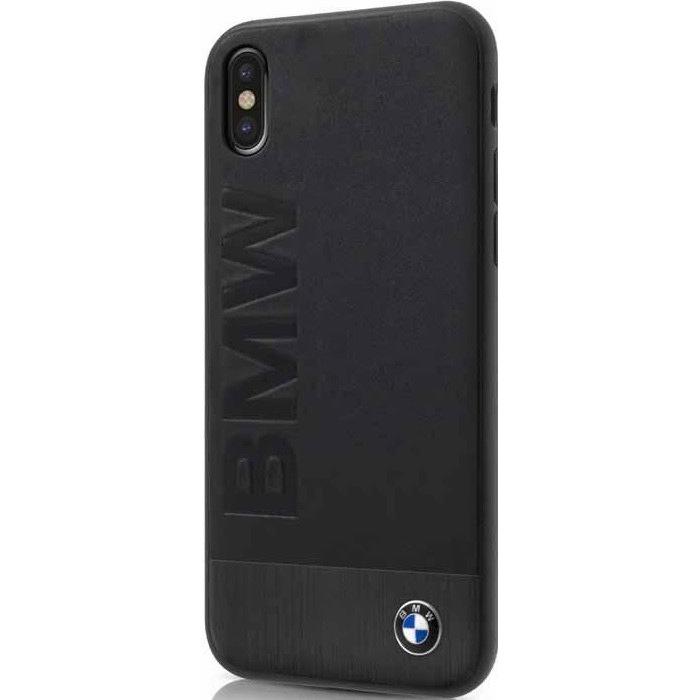 Чехол BMW Signature Bi-material Leather &amp; Aluminum для iPhone X чёрныйЧехлы для iPhone X<br>Чехол имеет непринуждённый дизайн, который будет уместен в любой обстановке.<br><br>Цвет: Чёрный<br>Материал: Натуральная кожа, алюминий, поликарбонат, микрофибра