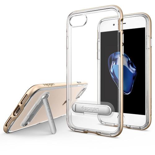 Чехол Spigen Crystal Hybrid для iPhone 7 (Айфон 7) золотой (SGP-042CS20460)Чехлы для iPhone 7<br><br><br>Цвет товара: Золотой<br>Материал: Поликарбонат, полиуретан