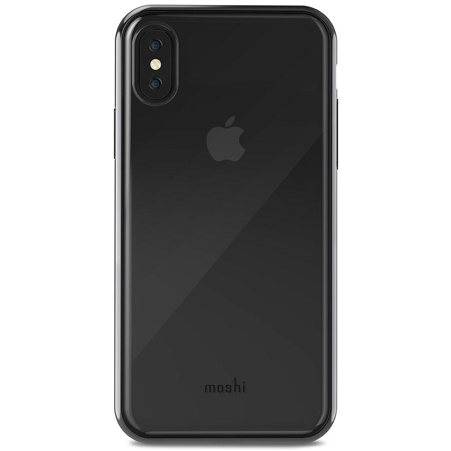 Чехол Moshi Vitros для iPhone X чёрный (Raven Black)Чехлы для iPhone X<br>Moshi Vitros выполнен в минималистском стиле и ничуть не скрывает дизайн iPhone.<br><br>Цвет товара: Чёрный<br>Материал: Поликарбонат, полиуретан