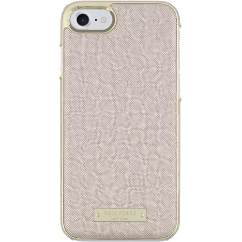 Чехол Kate Spade New York Wrap Case для iPhone 7/8 Saffiano розовое золотоЧехлы для iPhone 7<br>Прочный и изысканный чехол Kate Spade New York — это идеальное дополнение к вашему iPhone!<br><br>Цвет товара: Розовое золото<br>Материал: Сафьяновая кожа, пластик