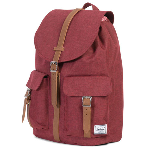 Рюкзак Herschel Dawnson Backpack красныйРюкзаки<br>Herschel Dawnson Backpack - стильный и практичный городской рюкзак.<br><br>Цвет товара: Красный<br>Материал: Полиэстер, эко-кожа