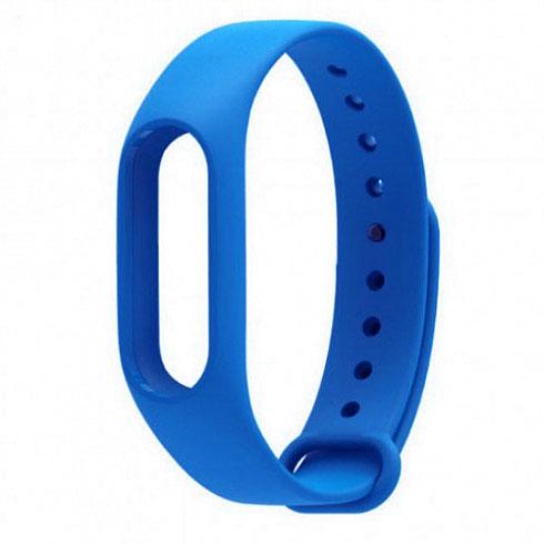 Ремешок для браслета Xiaomi Mi Band 2 синийРемешки для браслетов<br>Радужные ремешки позволят подобрать цвет браслета под настроение!<br><br>Цвет товара: Синий<br>Материал: Силикон