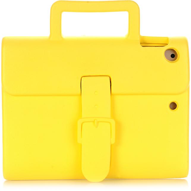 Чехол DoDo Briefcase Kids Shockproof для iPad Air / iPad Air 2 / iPad (2017) жёлтыйЧехлы для iPad Air<br><br><br>Цвет товара: Жёлтый<br>Материал: Силикон