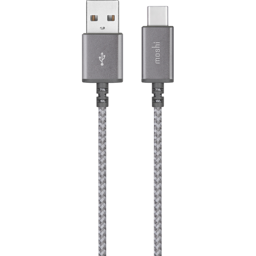 Кабель Moshi Integra USB-C to USB-A (1,5 метра) серыйКабели Type-C и другие<br>Кабели из серии Integra™ от Moshi сделаны на совесть.<br><br>Цвет: Серый<br>Материал: Нейлон, металл, кевлар