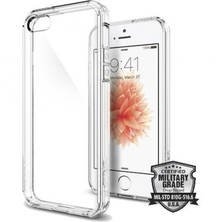 Чехол Spigen Ultra Hybrid для iPhone 5/5S/SE (SGP-041CS20171)Чехлы для iPhone 5/5S/SE<br>Чехол Spigen Ultra Hybrid для iPhone SE кристально-прозрачный (SGP-041CS20171)<br><br>Цвет товара: Белый<br>Материал: Пластик, резина