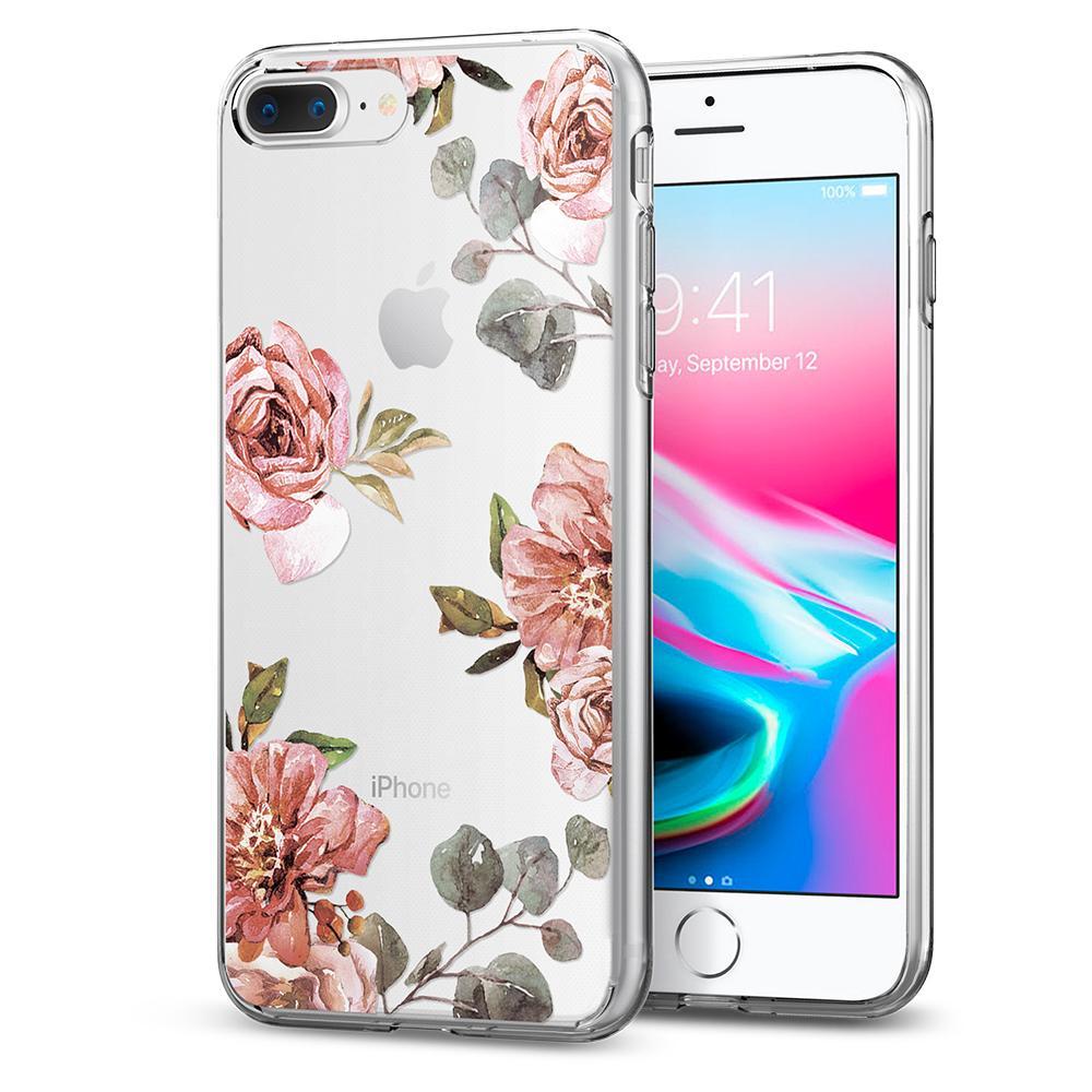 Чехол Spigen Liquid Crystal Aquarelle для iPhone 7 Plus/8 Plus Роза (055CS22621)Чехлы для iPhone 7 Plus<br>Чехол Spigen Liquid Crystal Aquarelle сделан для тех, кто предпочитает классику и минимализм, а не кратковременные модные веяния.<br><br>Цвет: Розовый<br>Материал: Термопластичный полиуретан