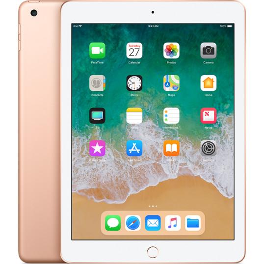 Apple iPad 9.7 Wi-Fi 128 GB золотойiPad 9.7 (2018)<br>Поможет в учёбе и легко поддержит ваши увлечения.<br><br>Цвет: Золотой<br>Материал: Металл, пластик<br>Модификация: 128 Гб
