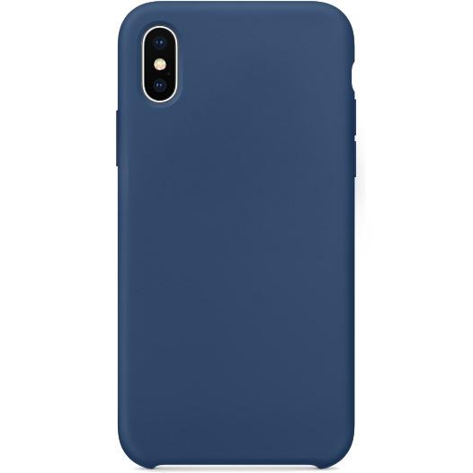 Силиконовый чехол YablukCase для iPhone X тёмный кобальтЧехлы для iPhone X<br>Лёгкий и практичный YablukCase — идеальная пара для вашего iPhone X!<br><br>Цвет товара: Синий<br>Материал: Силикон