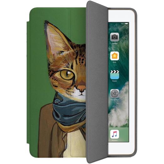 Чехол Muse Smart Case для iPad 9.7 (2017/2018) Кот в ШарфеЧехлы для iPad 9.7<br>Чехлы Muse — это индивидуальность, насыщенность красок, ультрасовременные принты и надёжность.<br><br>Цвет: Разноцветный<br>Материал: Поликарбонат, полиуретановая кожа