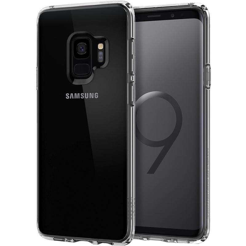 Чехол Spigen Ultra Hybrid для Samsung Galaxy S9 кристально-прозрачный (592CS22836)Чехлы для Samsung Galaxy S9/S9 Plus<br>Spigen Ultra Hybrid — чехол, который обеспечит вашему смартфону непревзойдённую защиту, не скрывая его дизайн.<br><br>Цвет: Прозрачный<br>Материал: Поликарбонат, термопластичный полиуретан