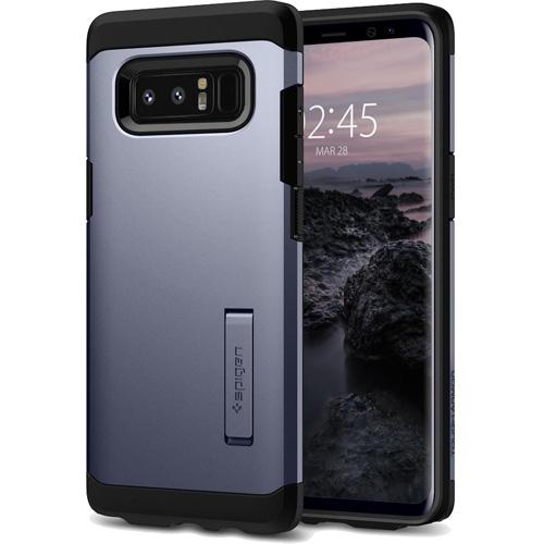 Чехол Spigen Tough Armor для Samsung Galaxy Note 8 серый (587CS22081)Чехлы для Samsung Galaxy Note<br>Spigen Tough Armor — это два прочнейших слоя защиты от повреждений для вашего смартфона.<br><br>Цвет товара: Серый<br>Материал: Термопластичный полиуретан, поликарбонат