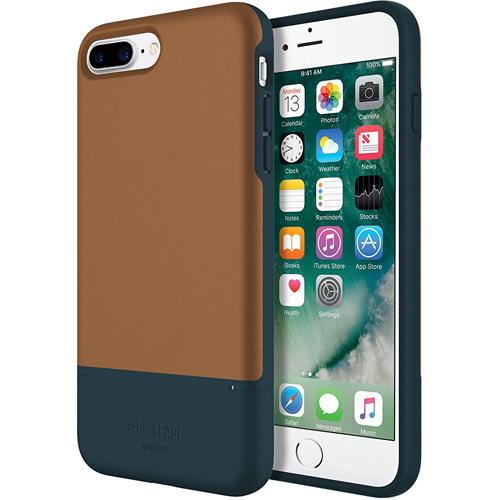 Чехол Jack Spade Color-Block Case для iPhone 7 Plus коричневый/синийЧехлы для iPhone 7 Plus<br>Jack Spade Color-BlockCase — надёжный и стильный чехол для вашего iPhone, изготовленный из материалов высшего качества.<br><br>Цвет: Коричневый<br>Материал: Поликарбонат, экокожа