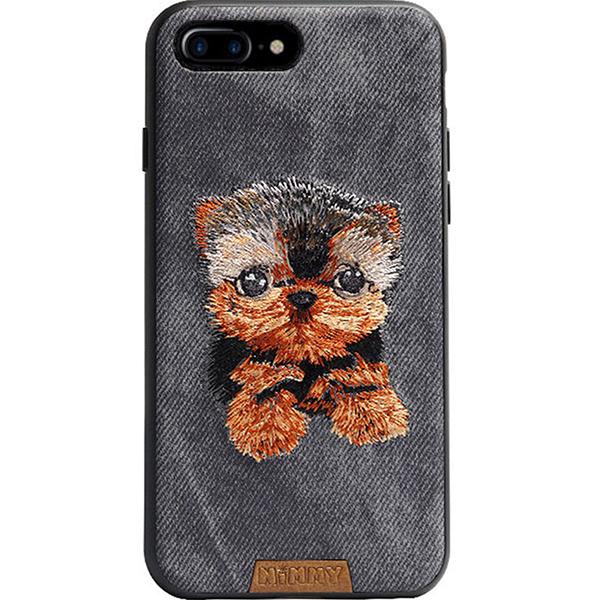 Чехол Nimmy Pet Denim для iPhone 7 Plus / iPhone 8 Plus (Йорк) серыйЧехлы для iPhone 7 Plus<br>Nimmy Pet Denim продемонстрирует окружающим ваш безупречный вкус!<br><br>Цвет: Серый<br>Материал: Пластик, силикон, текстиль