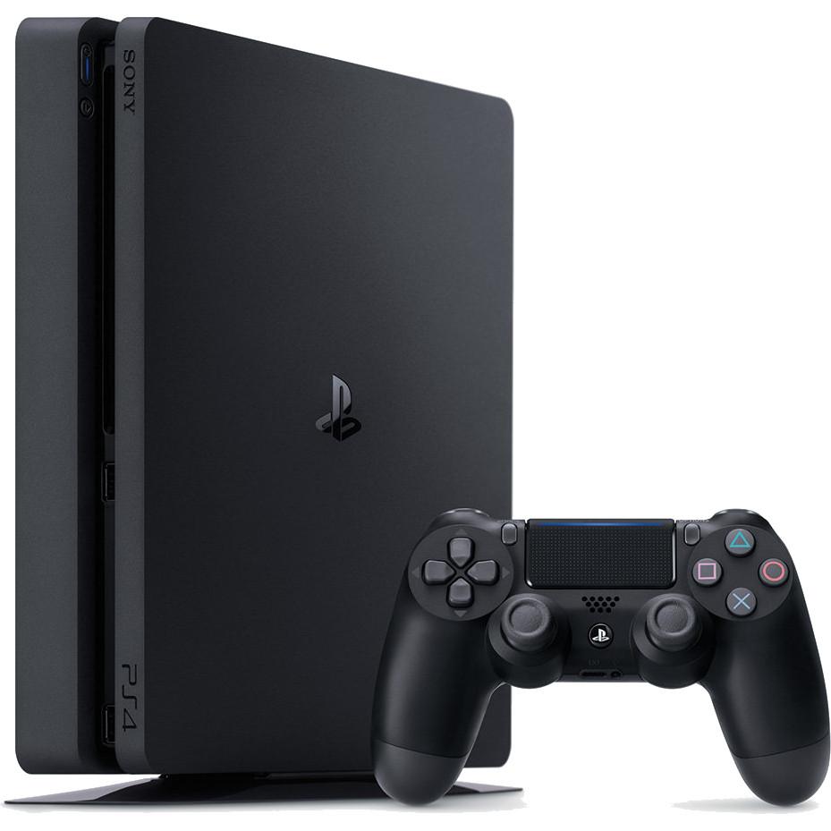 Игровая приставка Sony PlayStation 4 Slim 500 Гб чёрнаяPlayStation 4 и игры<br>Самая популярная игровая консоль в мире Sony PlayStation 4 преобразилась<br><br>Цвет товара: Чёрный<br>Материал: Пластик, металл<br>Модификация: 500 Гб