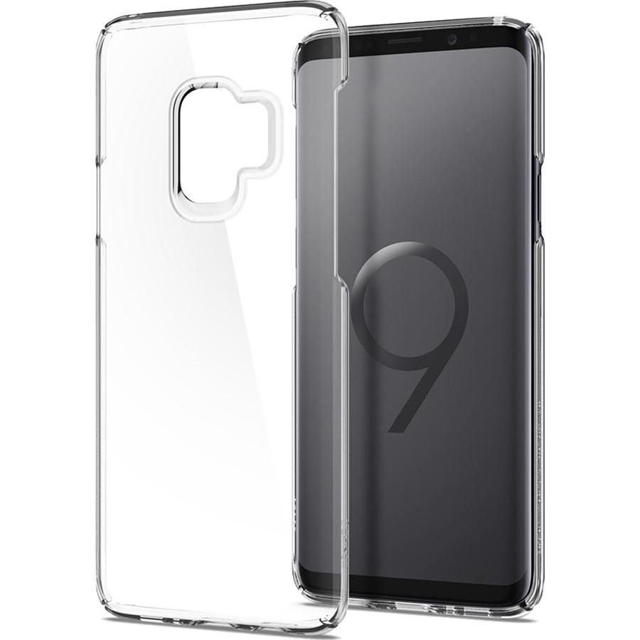Чехол Spigen Thin Fit для Samsung Galaxy S9 кристально-прозрачный (592CS22874)Чехлы для Samsung Galaxy S9/S9 Plus<br>Thin Fit относится к серии самых тонких и лёгких чехлов от Spigen.<br><br>Цвет: Прозрачный<br>Материал: Поликарбонат