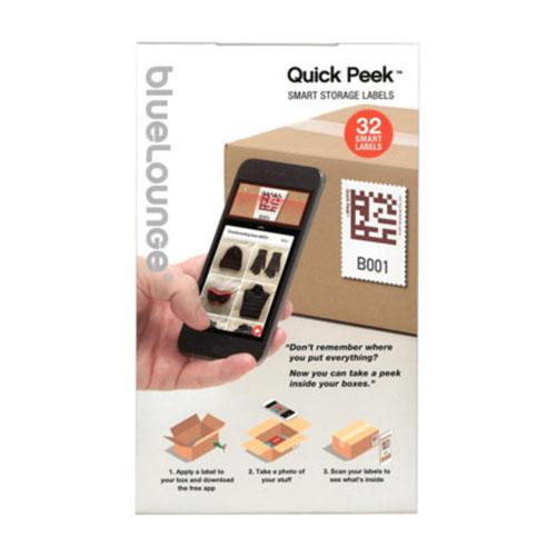 Самоклеющиеся стикеры для маркировки коробок с QR кодами Bluelounge Quick Peek (32 стикера)Товары умного дома, офиса<br>Благодаря Bluelounge Quick Peek вы легко сможете найти нужную вещь.<br><br>Цвет товара: Белый<br>Материал: Бумага