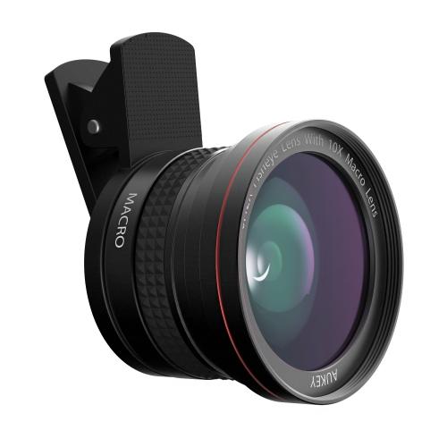 Объектив Aukey 2-in-1 Lens Set PL-F1 (Ora 180° Fisheye + 10X Macro) для смартфонов и планшетовОбъективы<br>Aukey 2-in-1 Lens Set PL-F1 значительно расширяет возможности камеры смартфона!<br><br>Цвет товара: Чёрный<br>Материал: Алюминий, оптическое стекло