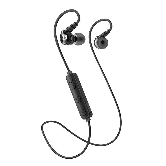 Беспроводные наушники MEE Audio X6 Plus (EP-X6Plus-BK-MEE) чёрныеВнутриканальные наушники<br>MEE Audio X6 Plus - беспроводные наушники, созданные специально для спорта!<br><br>Цвет товара: Чёрный<br>Материал: Пластик, силикон