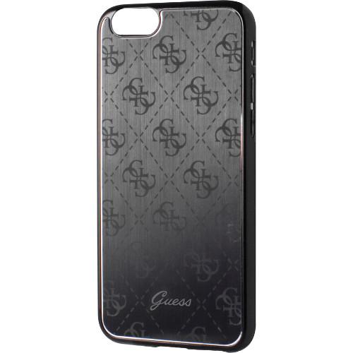 Чехол Guess 4G Aluminium Plate Hard для iPhone 7 Plus (Айфон 7 Плюс) чёрныйЧехлы для iPhone 7 Plus<br>Чехол Guess для iPhone 7 Plus 4G Aluminium plate Hard Black<br><br>Цвет товара: Чёрный<br>Материал: Поликарбонат, алюминий