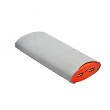 Дополнительный (внешний) аккумулятор Maxtop Fluff 7800 мАч серыйВнешние аккумуляторы<br><br><br>Цвет товара: Серый<br>Материал: Пластик, полиуретан