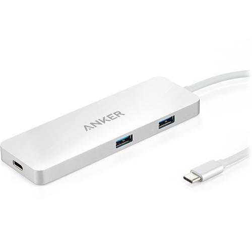 USB-хаб Anker Premium USB-C Hub HDMI and Power Delivery (A8342H41) серебристыйХабы - разветвители USB<br>Компактный, высокоскоростной, прочный алюминиевый USB-хаб Anker Premium USB-C Hub станет для вас незаменимым аксессуаром на рабочем столе.<br><br>Цвет товара: Серебристый<br>Материал: Алюминий