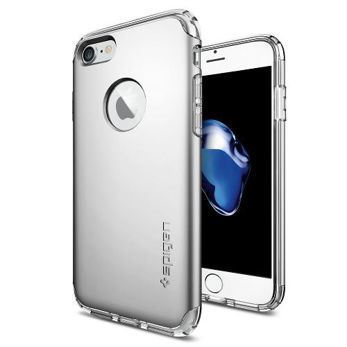 Чехол Spigen Hybrid Armor для iPhone 7, iPhone 8 серебристый (SGP-042CS20694)Чехлы для iPhone 7<br>Чехол Spigen Hybrid Armor для iPhone 7 (Айфон 7) серебристый (SGP-042CS20694)<br><br>Цвет товара: Серебристый<br>Материал: Поликарбонат, полиуретан