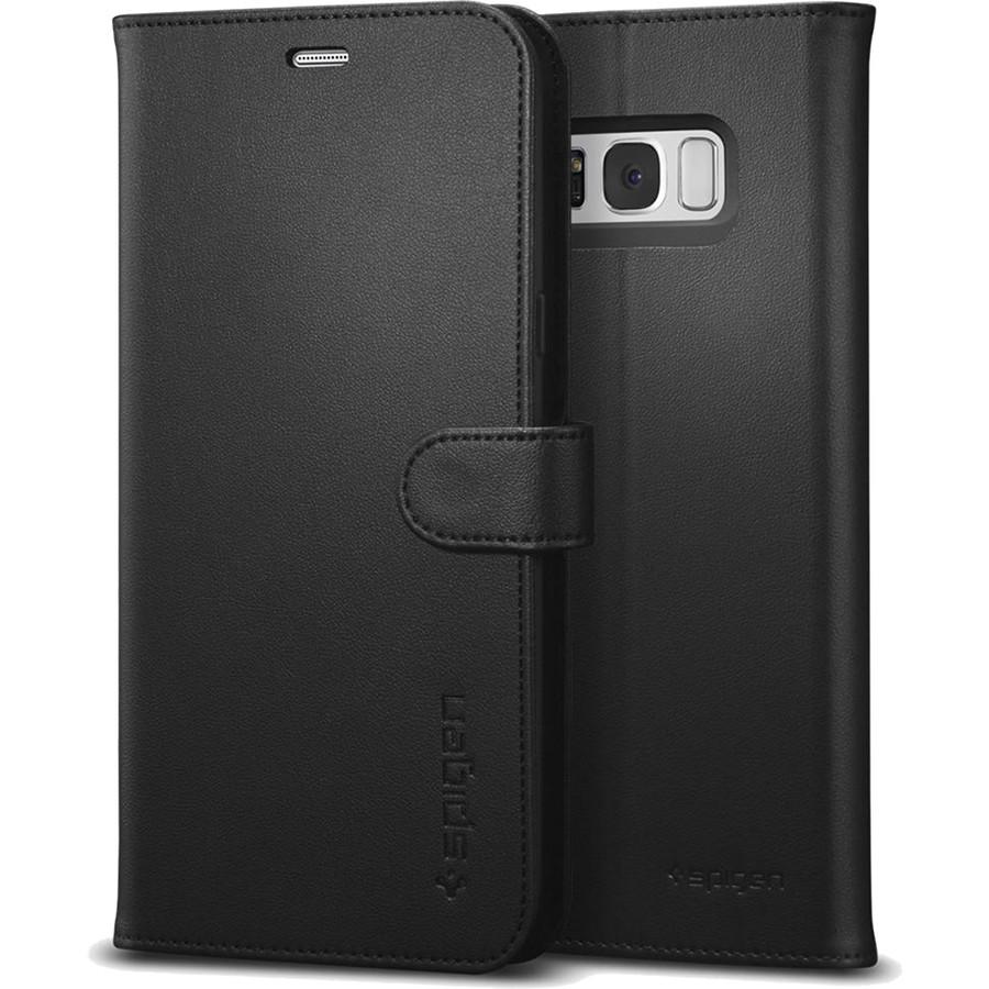 Чехол Spigen Wallet S для Samsung Galaxy S8 Plus чёрный (571CS21687)Чехлы для Samsung Galaxy S8/S8 Plus<br>Spigen Wallet S можно использовать одновременно и как чехол для телефона и как бумажник.<br><br>Цвет товара: Чёрный<br>Материал: Эко-кожа, термопластичный полиуретан