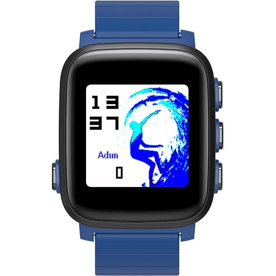 Умные часы SMA Q2 Lite синиеУмные часы<br>Умные часы, в которых идеально сочетаются смарт-функции и функции фитнес-трекера.<br><br>Цвет товара: Синий<br>Материал: Пластик