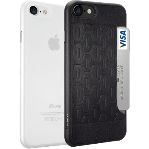 Набор чехлов Ozaki O!coat Jelly+Pocket 2 in 1 для iPhone 7 (Айфон 7) чёрный+прозрачныйЧехлы для iPhone 7<br>Чехол Ozaki Jelly 0.3 + Ozaki Pocket для iPhone 7 - прозрачный/черный<br><br>Цвет товара: Чёрный<br>Материал: Поликарбонат, полиуретановая кожа