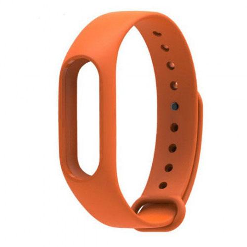 Ремешок для браслета Xiaomi Mi Band 2 оранжевыйРемешки и кабели<br>Радужные ремешки позволят подобрать цвет браслета под настроение!<br><br>Цвет товара: Оранжевый<br>Материал: Силикон