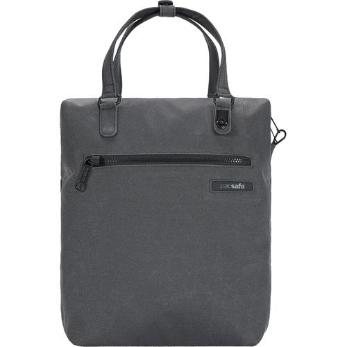 Сумка PacSafe Intasafe Backpack Tote (Charcoal) сераяРюкзаки<br>Сумка-рюкзак PacSafe Intasafe Backpack Tote отлично подходит для городских прогулок, и легко вместит самое необходимое!<br><br>Цвет товара: Серый<br>Материал: Poly Canvas (канвас) 600D, нейлон 70D