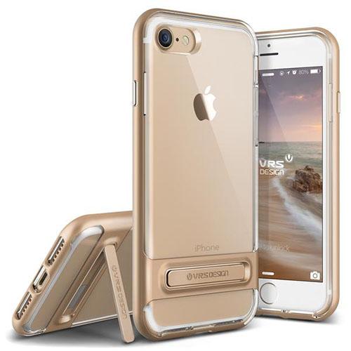 Чехол Verus Crystal Bumper для iPhone 7 (Айфон 7) золотистый (VRIP7-CRBGD)Чехлы для iPhone 7<br>Чехол Verus для iPhone 7 Crystal Bumper, шампань (904597)<br><br>Цвет товара: Золотой<br>Материал: Поликарбонат, полиуретан